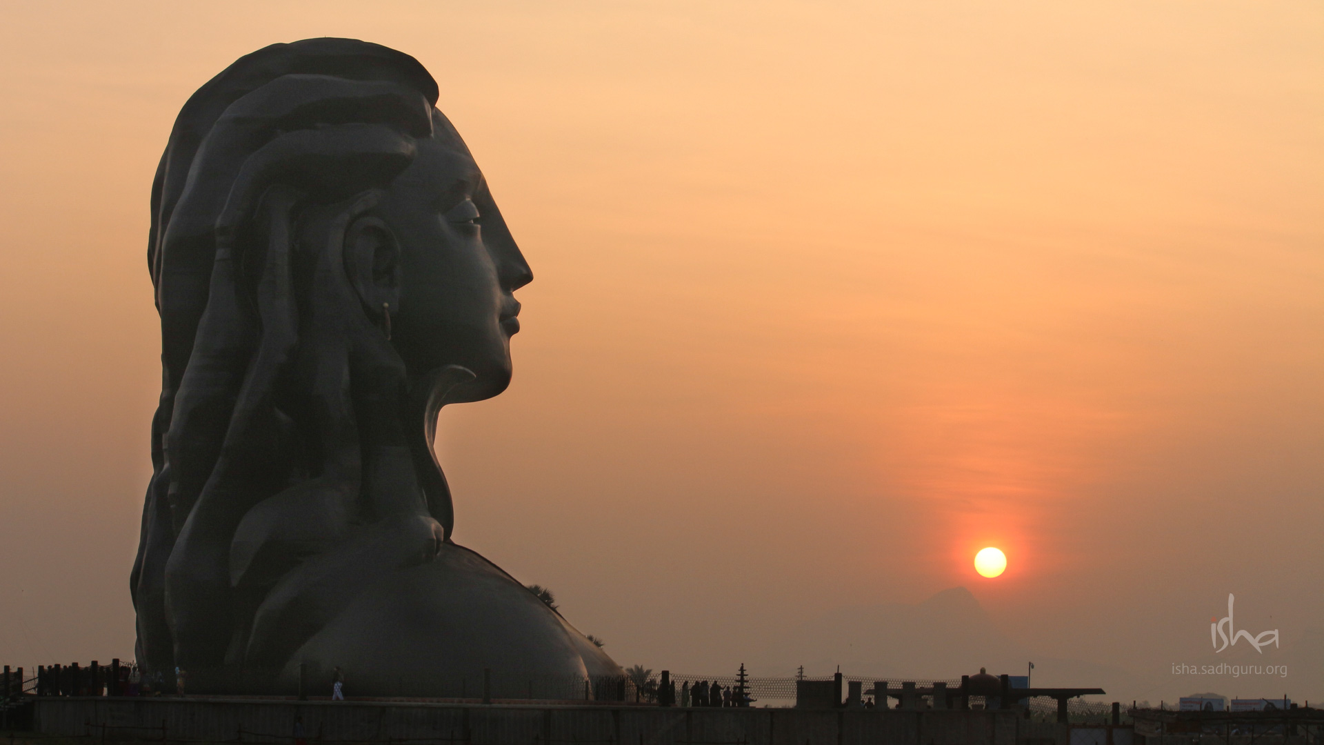 Shiva Wallpapers - The Adiyogi During Sunrise HD