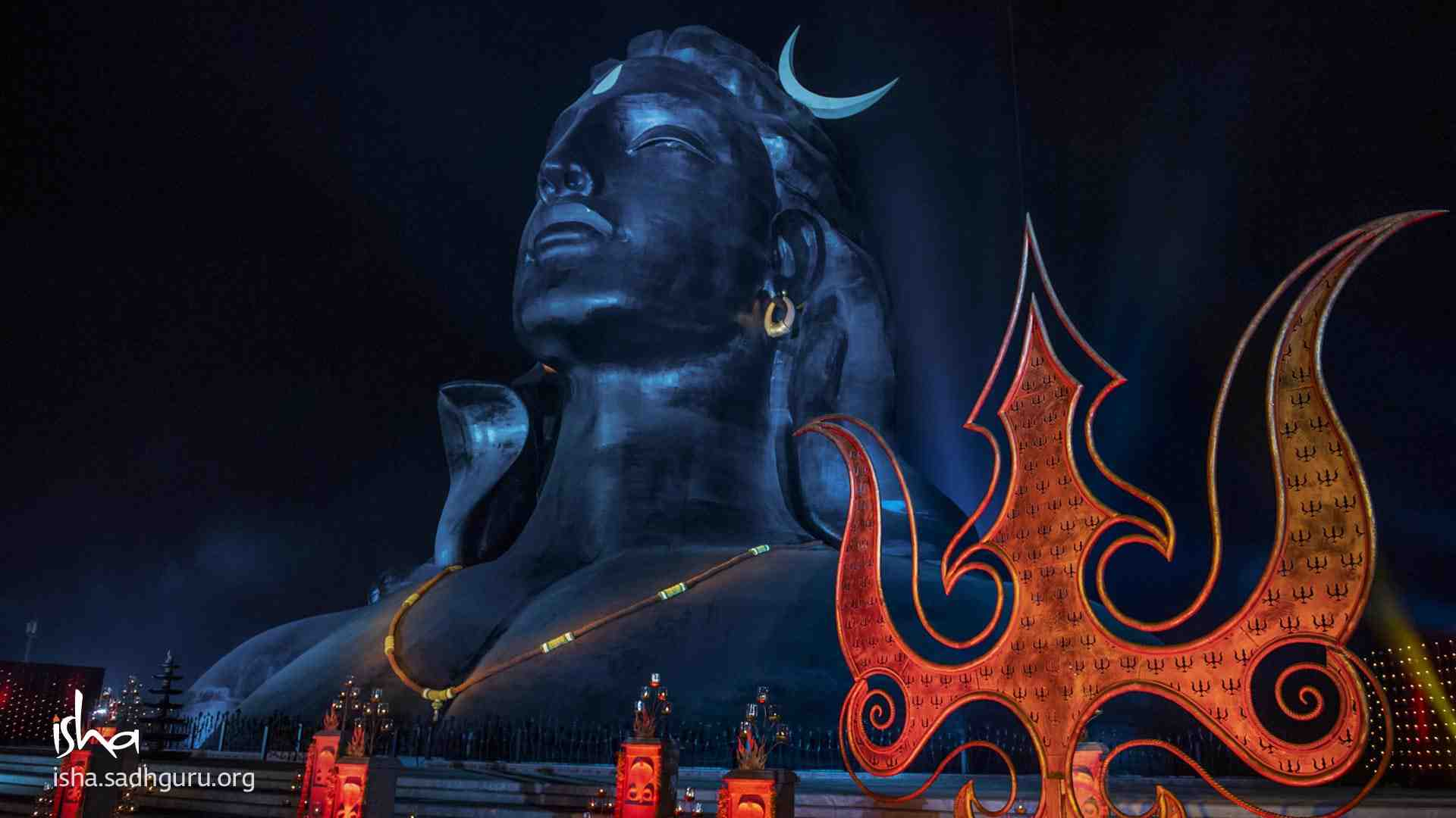 Shiva Wallpaper with his Trishul on Mahashivratri