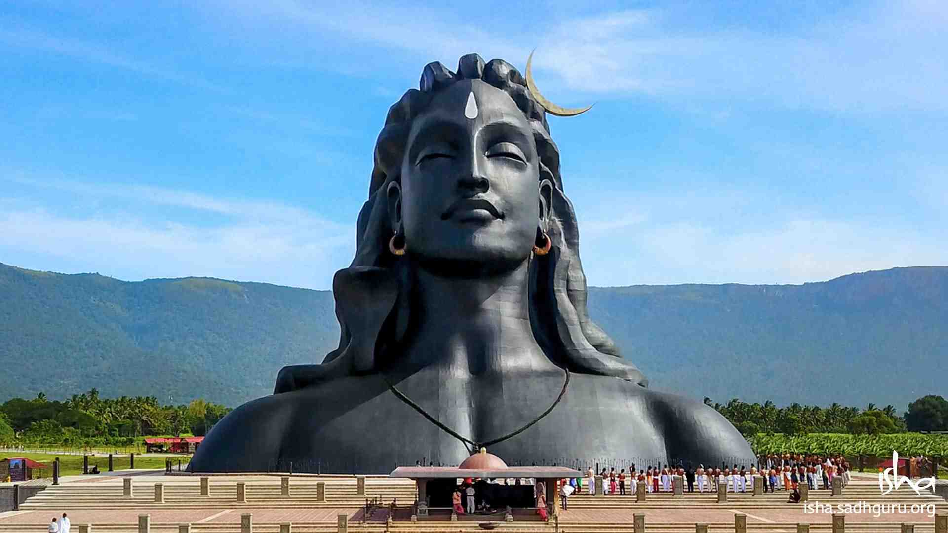 Shiva Wallpaper of 112ft Adiyogi statue