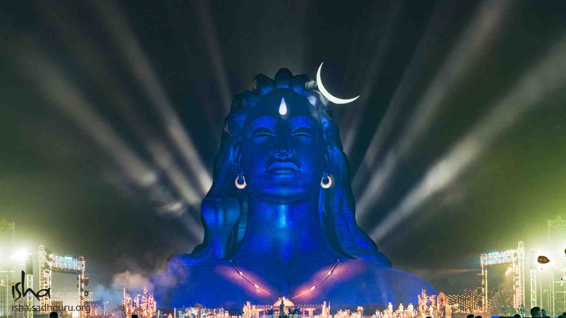 Shiva Wallpaper - Mahashivratri celebrations at the 112 ft Adiyogi Statue